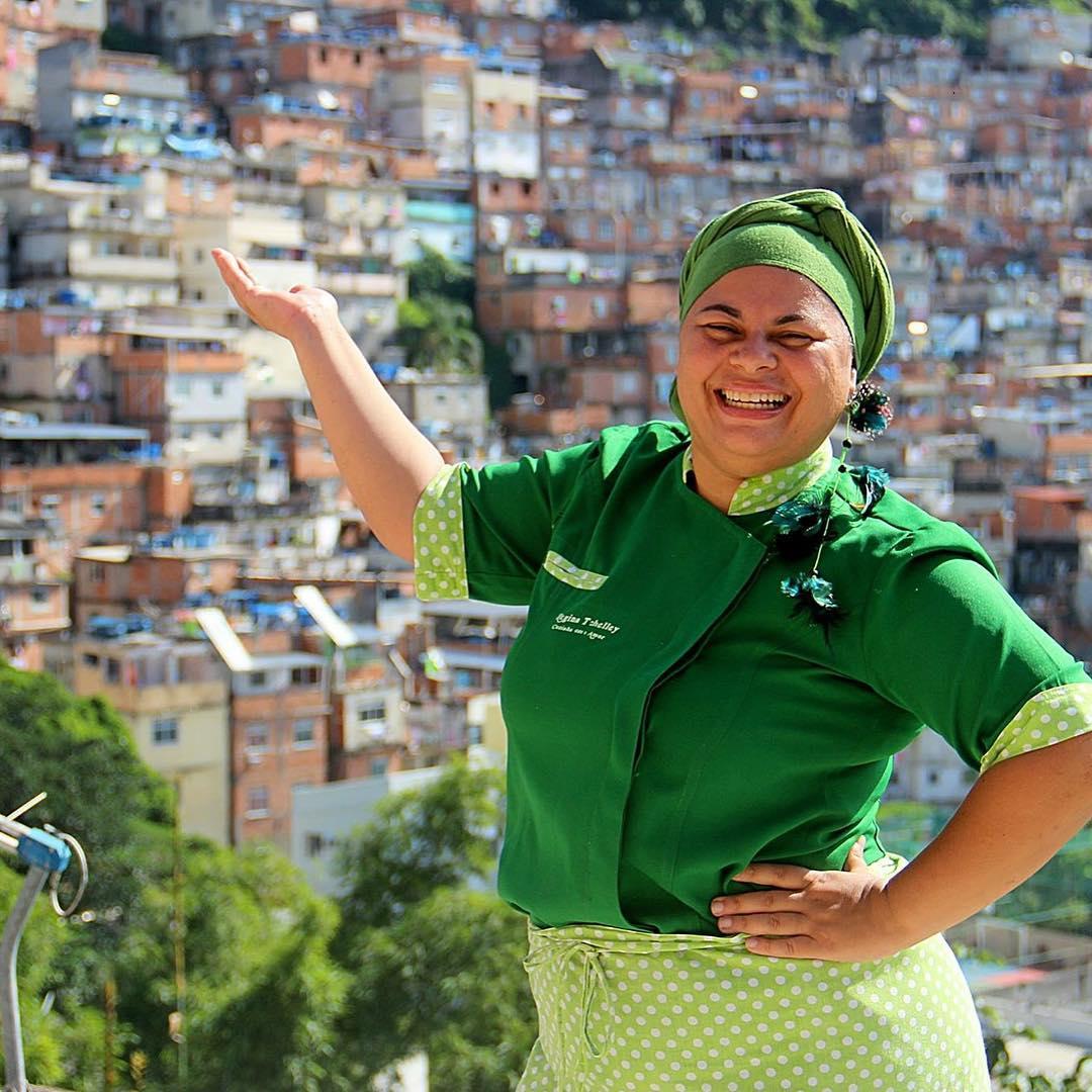 Regina Tchelly, o reaproveitamento de alimentos a levou da Paraíba para o mundo!/ crédito da foto: reprodução Instagram Favela Orgânica