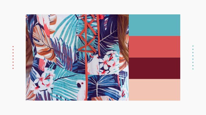 combinação de cores, estampas e listras de cores em ton sur ton