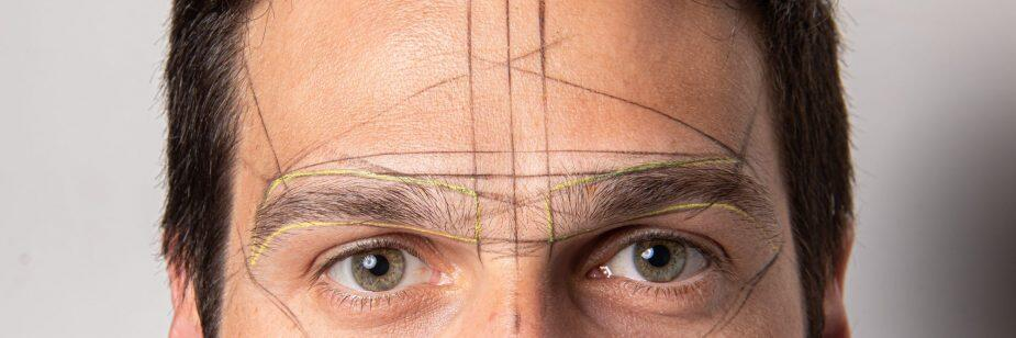 design de sobrancelhas masculinas