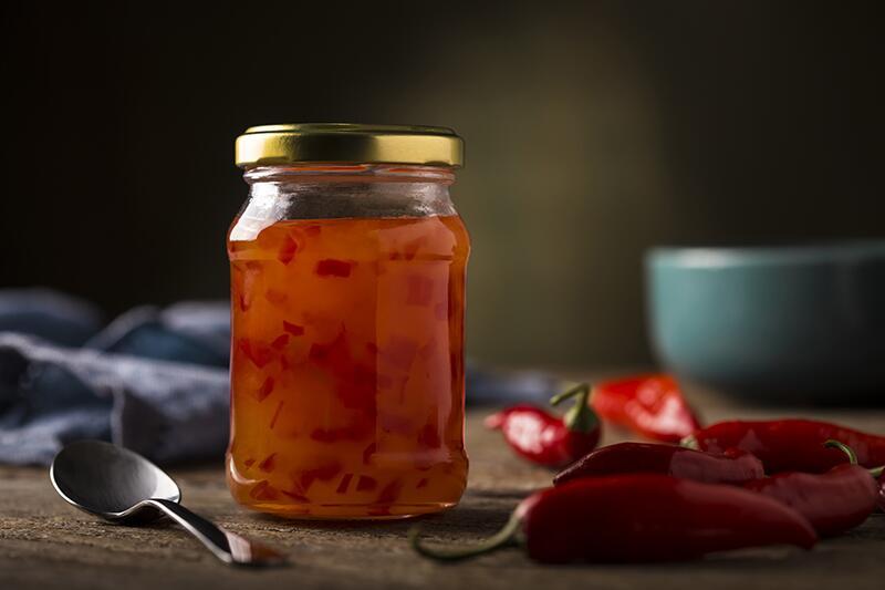Congelada, geleia de pimenta diet pode durar até um ano